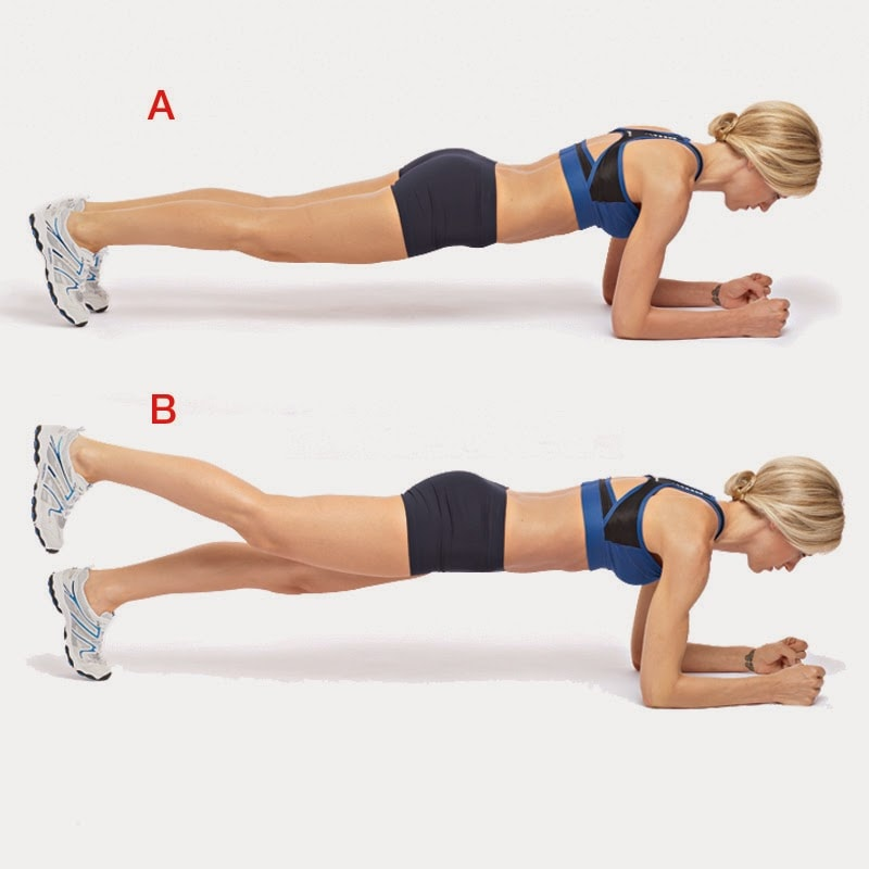 Forearm Plank with Hip Extension