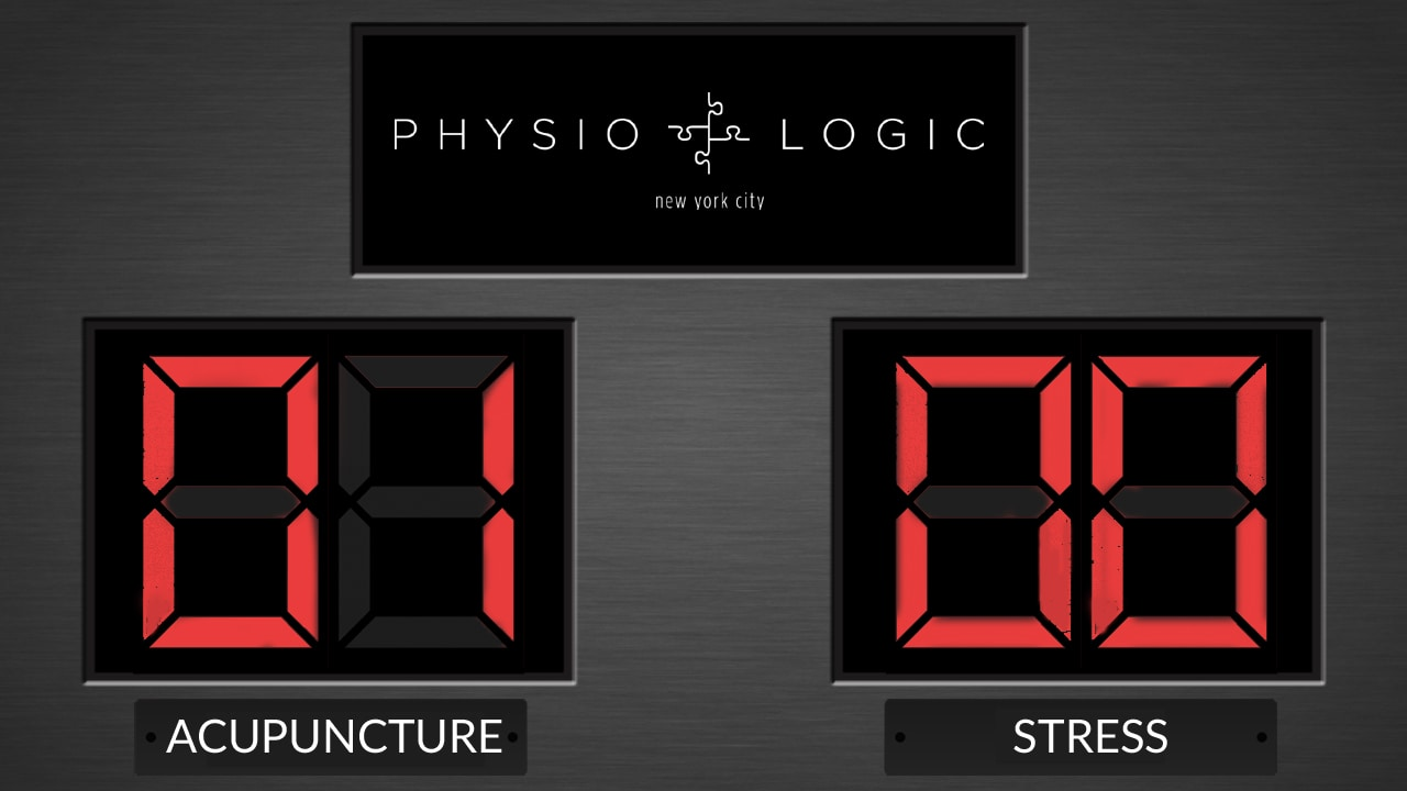Acupuncture for Stress Relief Scoreboard - Physio Logic