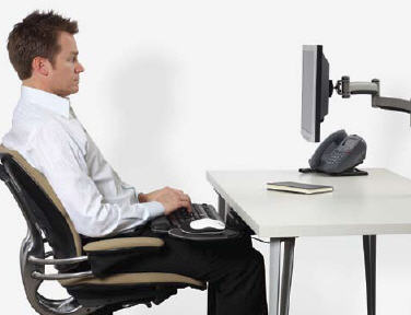 Keyboard on Lap for better posture