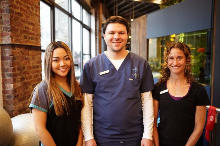 Diane Lee, Dr. Stephen Szaro, & Amy Montia at Physio Logic in Downtown Brooklyn