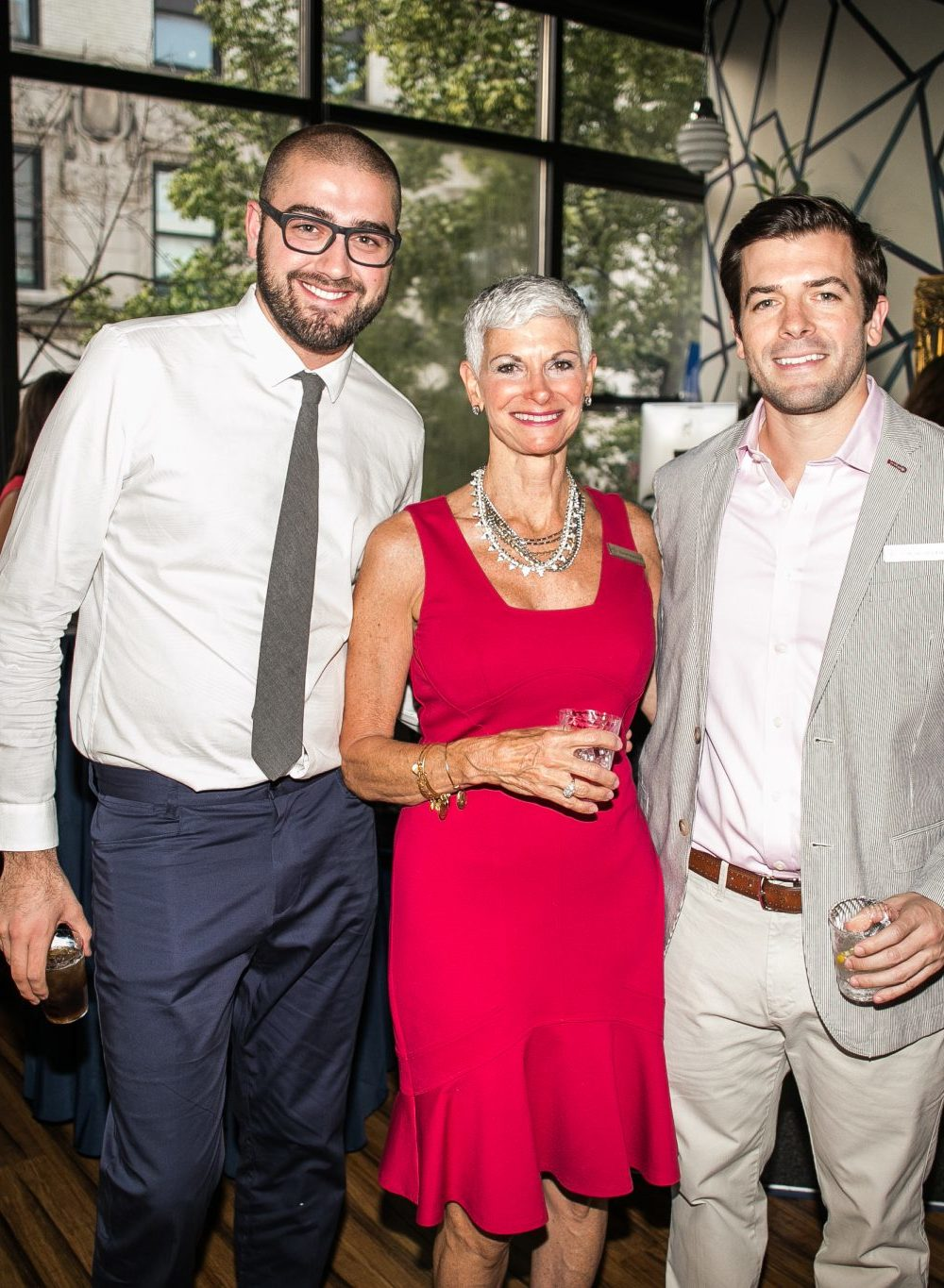 Dr. Klaus Dobra, Dr. Mike Distler, and Jeanine Robotti, PT at Physio Logic's Summer Social Fundraiser