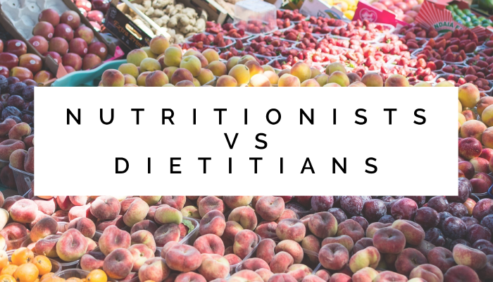 Nutritionists vs Dietitians